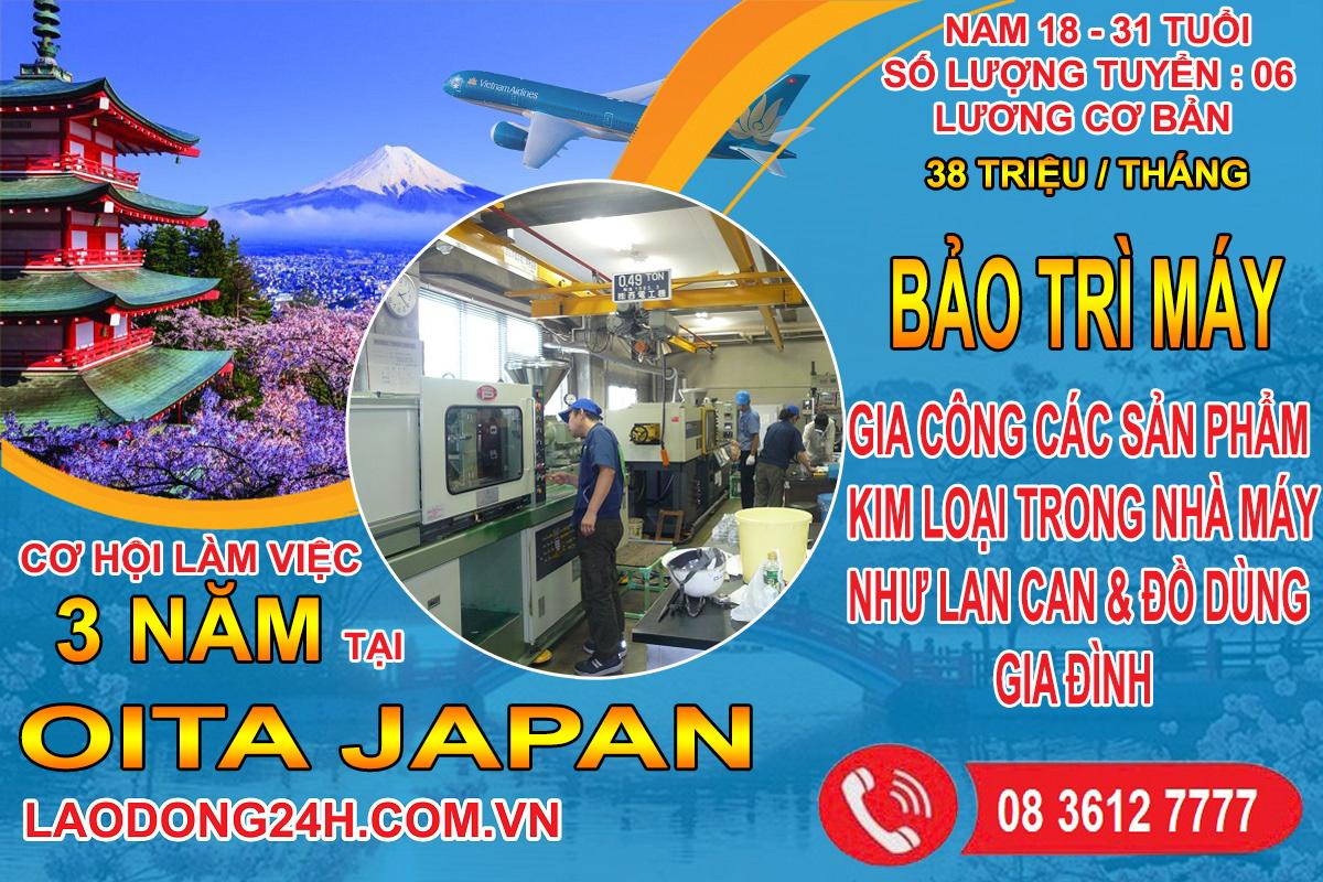 Bảo trì máy – Xuất khẩu lao động Nhật Bản