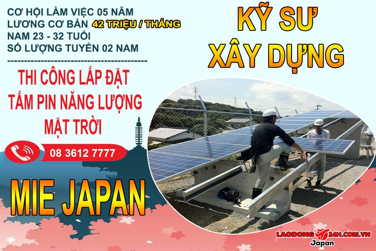 Kỹ Sư Xây Dựng , Lắp đặt tấm pin năng lượng mặt trời